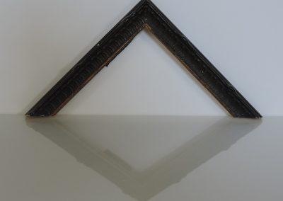 Cornice Montmarttre nera filo oro