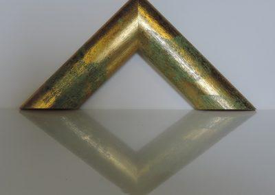 Cornice Sole Grande verde fondo oro