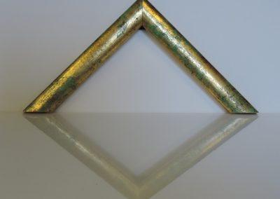 Cornice Sole piccola verde fondo oro
