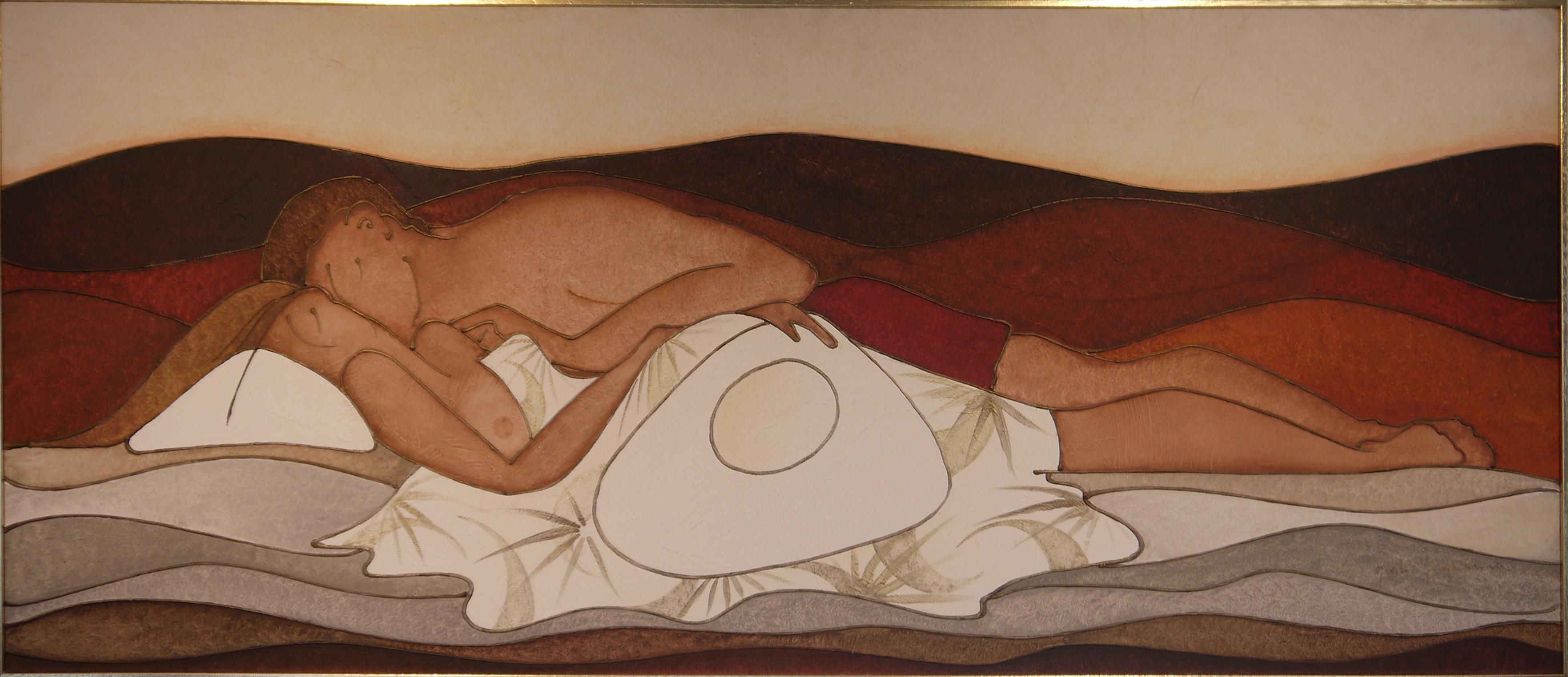 Segno Capricorno 20x20 - Acrilico, stucco e sabbia su tela