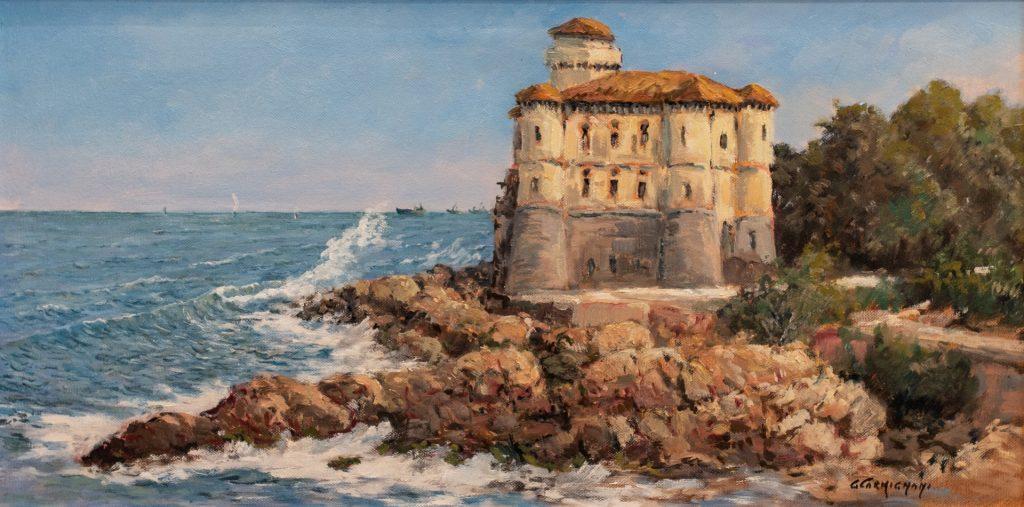 G. Carmignani - Castel Boccale- cm 30x60 - olio su tela