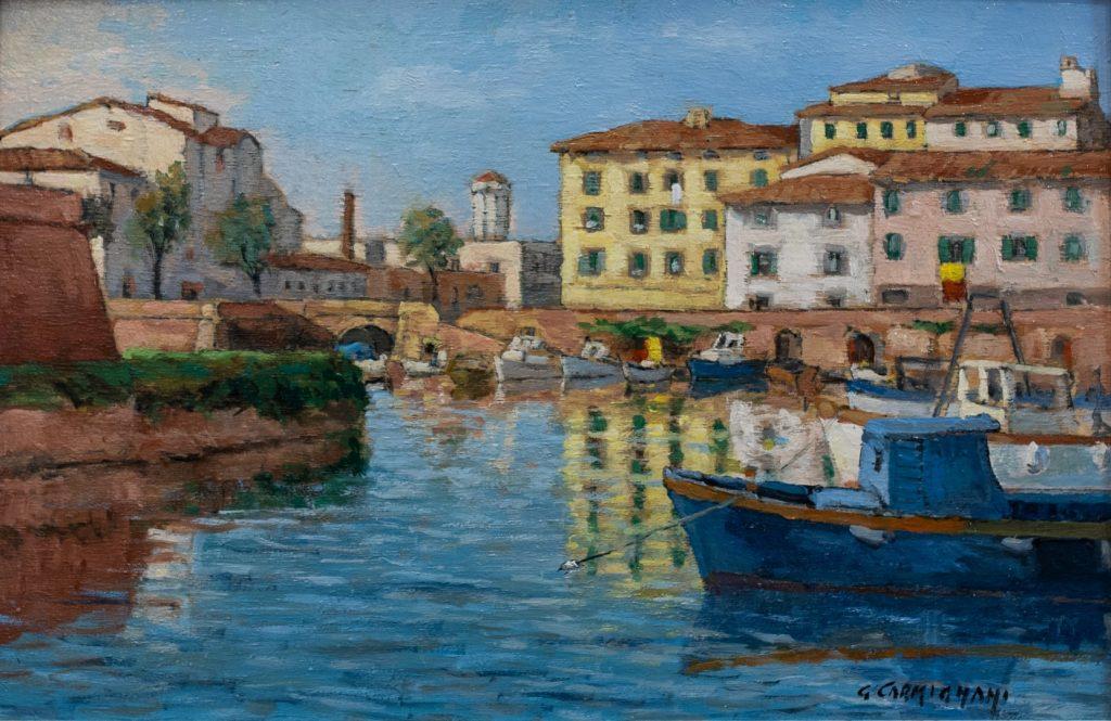 G. Carmignani - Il Pontino- cm 20x30 - olio su tavola