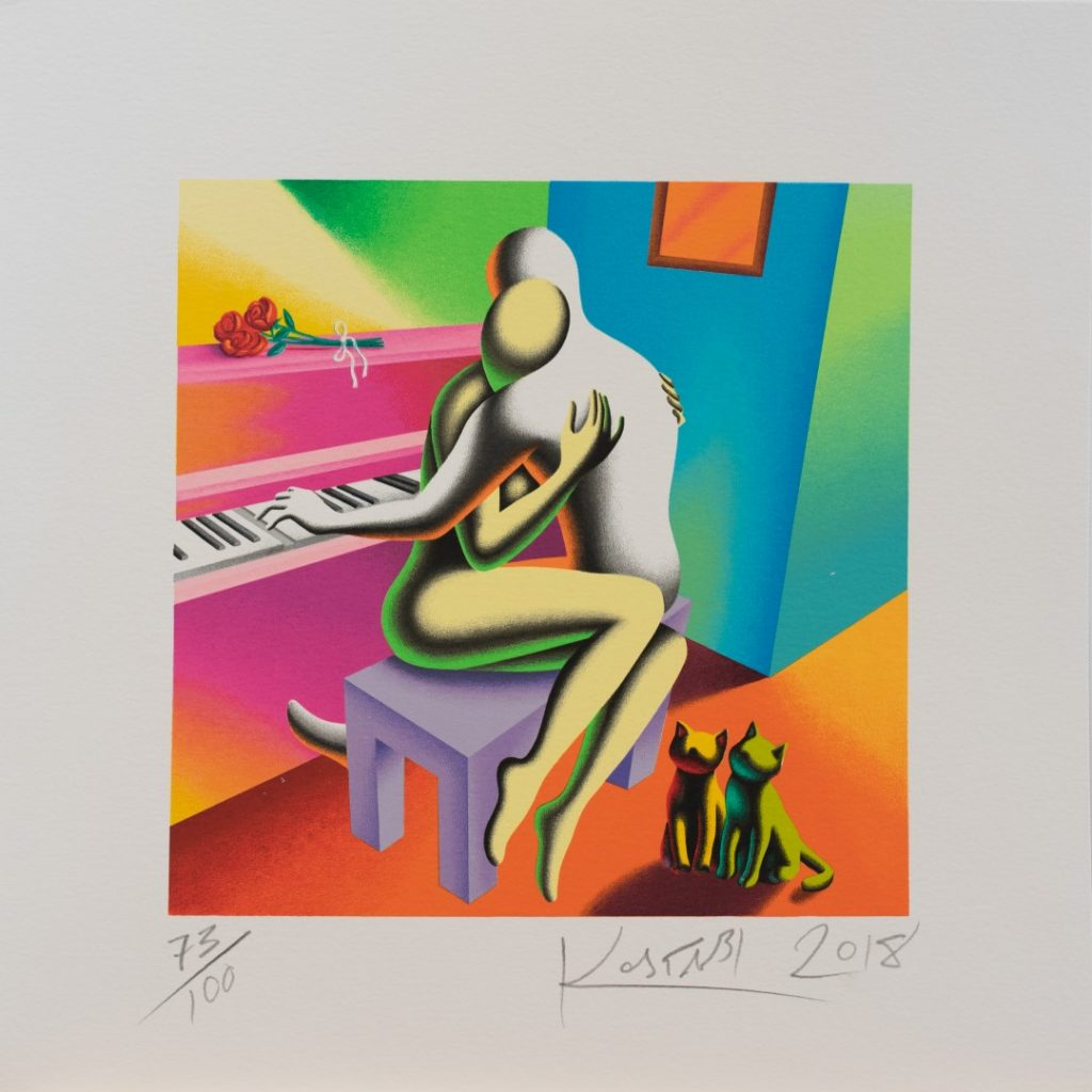 Mark Kostabi - The Right Notes - cm 45x45