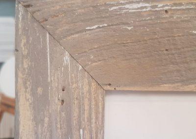 Cornice rustica e artigianale con passpartou aperto a 4 finestre 3