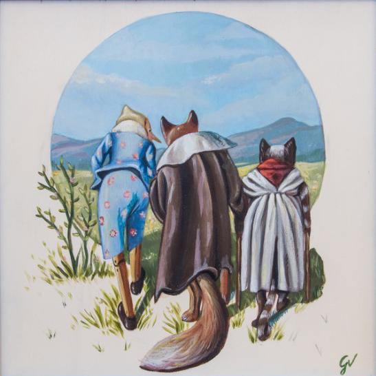 Pinocchio in giro con i due amici
