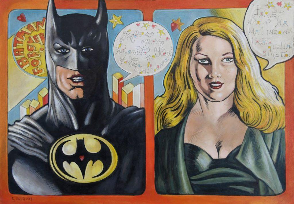 Batman Forever - Roberto Sguanci - cm 70x100 - Olio su tela (Media)