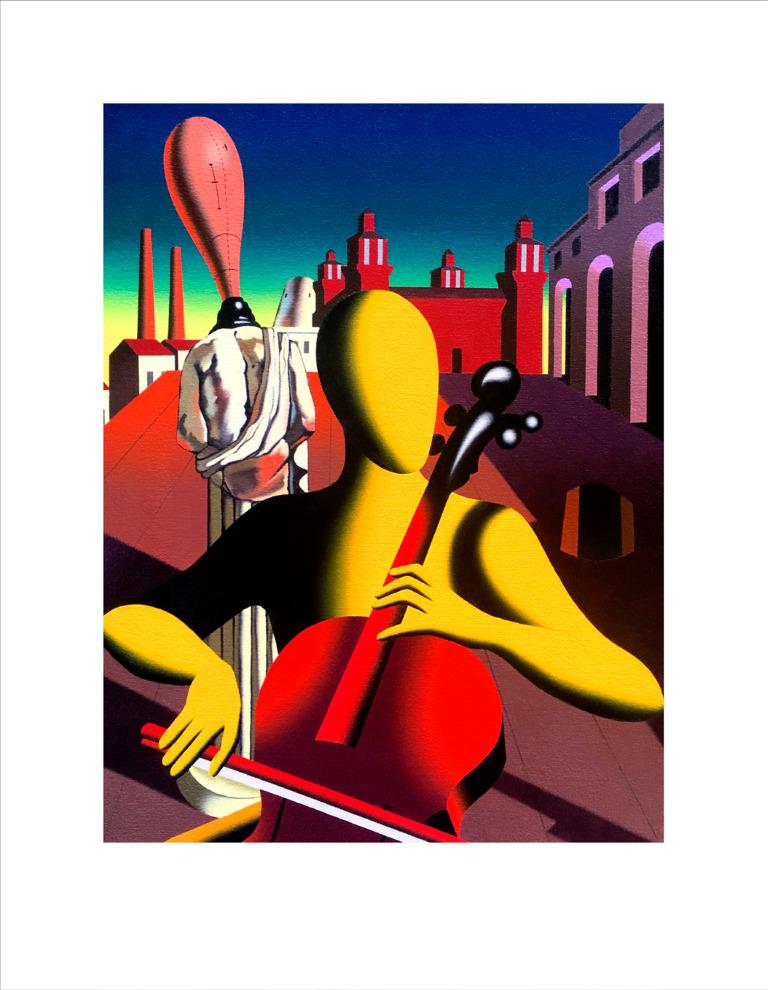 "Mark Kostabi ""METAPHYSICAL HARMONY"" 52x67 CM"